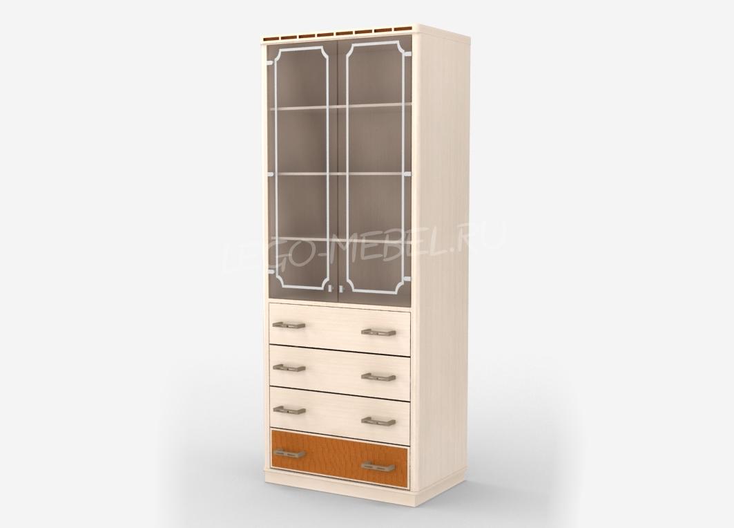 Кэри Голд Стеллаж 4 ящика со стеклом