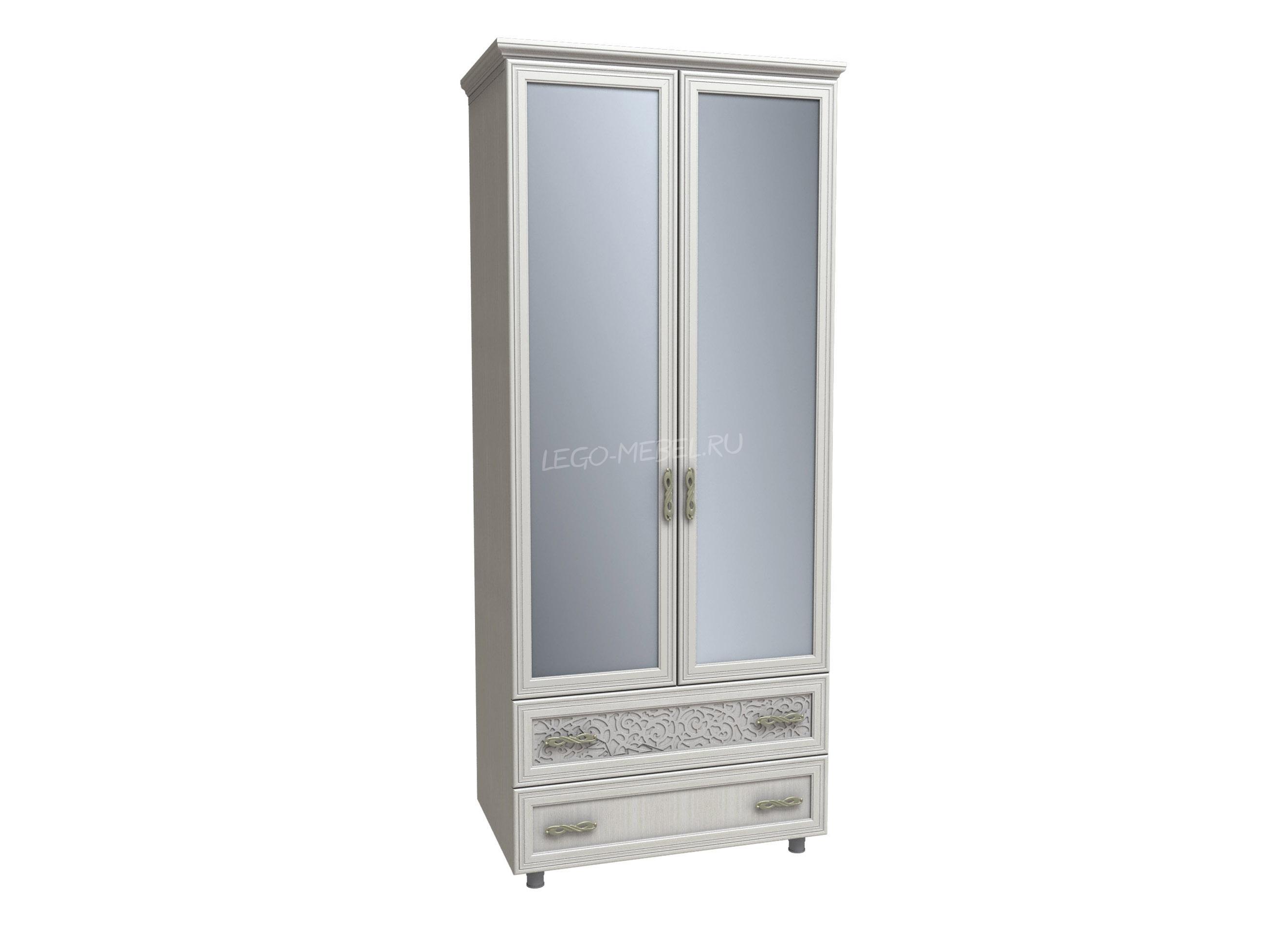Спальня Виктория Шкаф с ящиками и зеркалами КШ-123