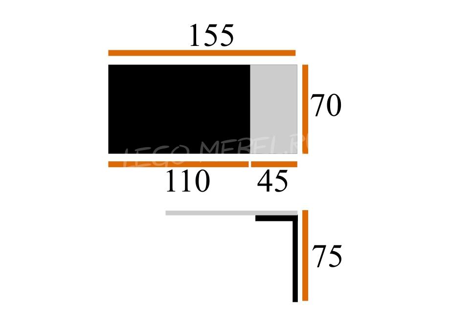 Стол Дижон-АМ + 4 Стула Рита